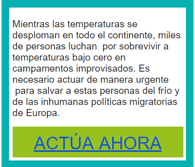 acción temperaturas refugiados