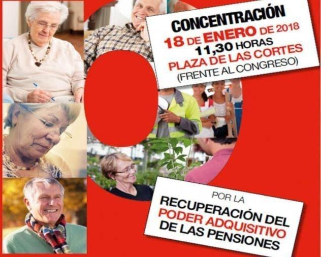concentración pensiones madrid